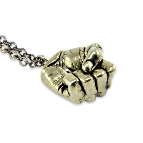 A Mans Hand - Clenched Fist Necklace
