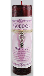 Fertility Pillar Candle with Goddess Necklace