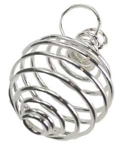 Silver Plated Coil - Pendant