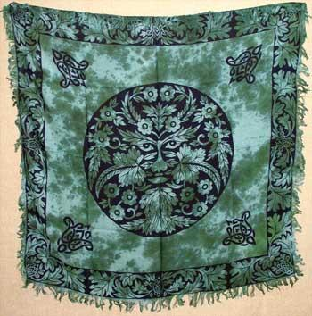Green Man Altar Cloth Altar Cloth 36