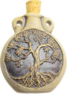 Tree of Life Oil  Bottle Pendant