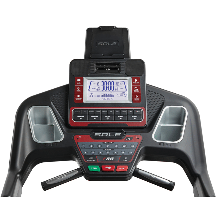 Sole F80 Treadmill LCD Console and Heart Rate Handlebars