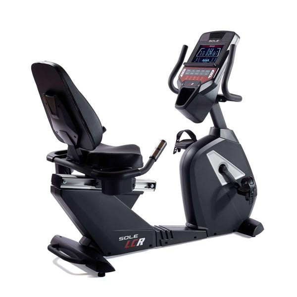 Sole LCR Light Commercial Recumbent Exercise Bike Rear Side View