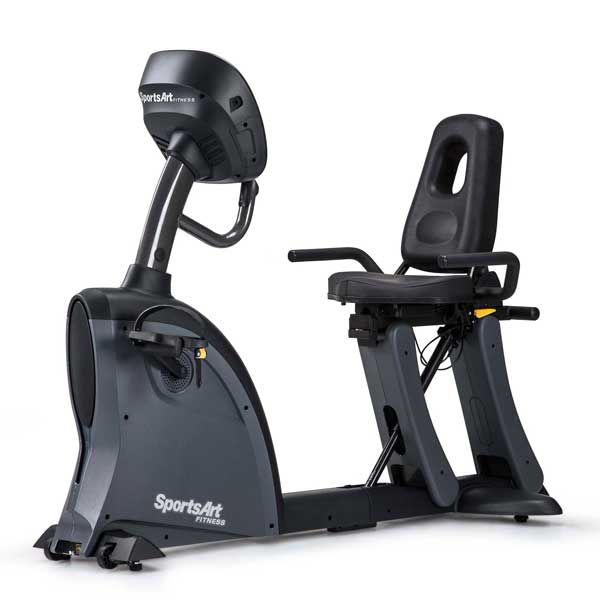 SportsArt C535R Recumbent Exercise Bike Front Left View