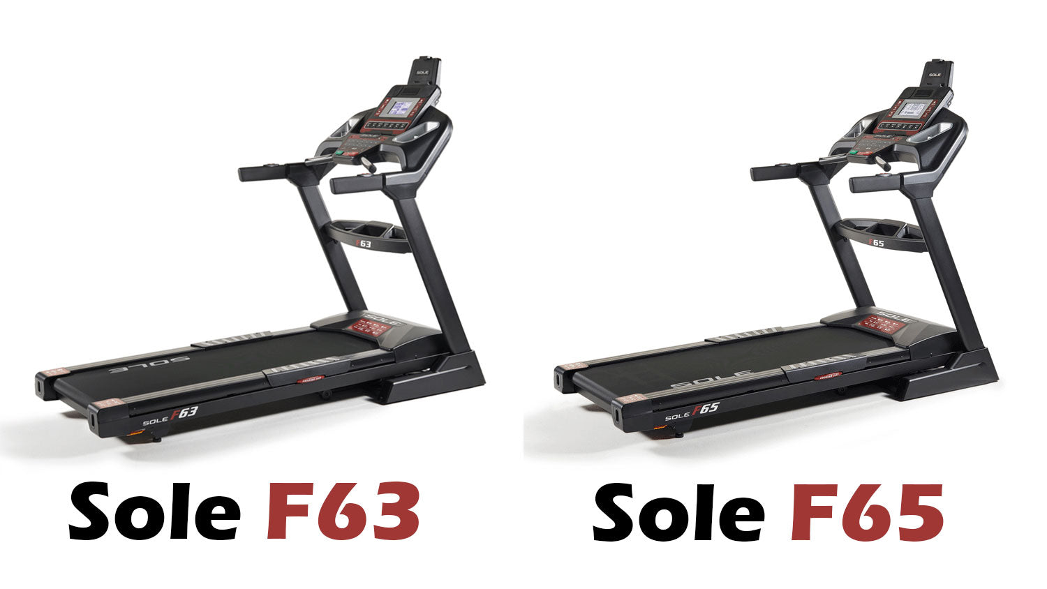 Sole F63 vs Sole F65 Treadmill Comparison