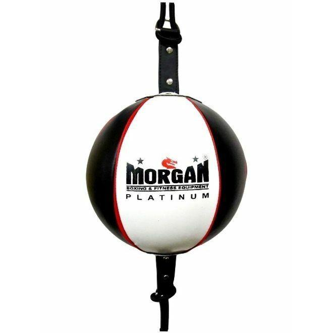 Morgan 8 Inch Platinum Leather Floor To Ceiling Ball + Adjustable Straps