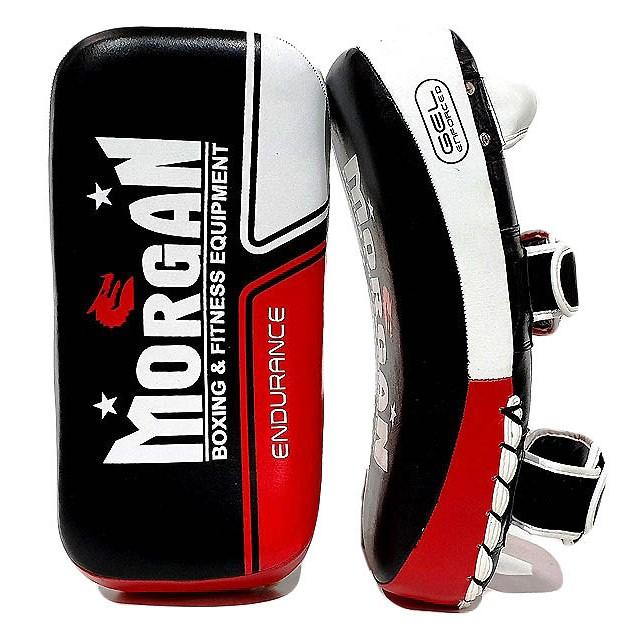 Morgan Endurance Gel Leather Curved Thai Pads (Pair)