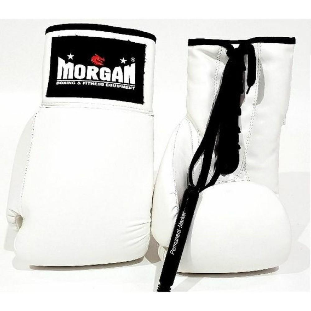Morgan Lace Up Autograph Gloves (10 Oz)