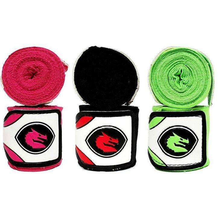 Morgan Mexico Elastic Short Boxing Hand Wraps 2.75m Long (Pair)-Accessories-Morgan-Black-Cardio Online