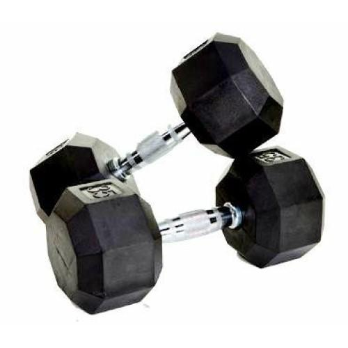 Morgan Rubber Hex Dumbbells Pair (2-35 KG)