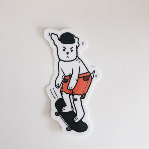Skater Tough Pup Sticker
