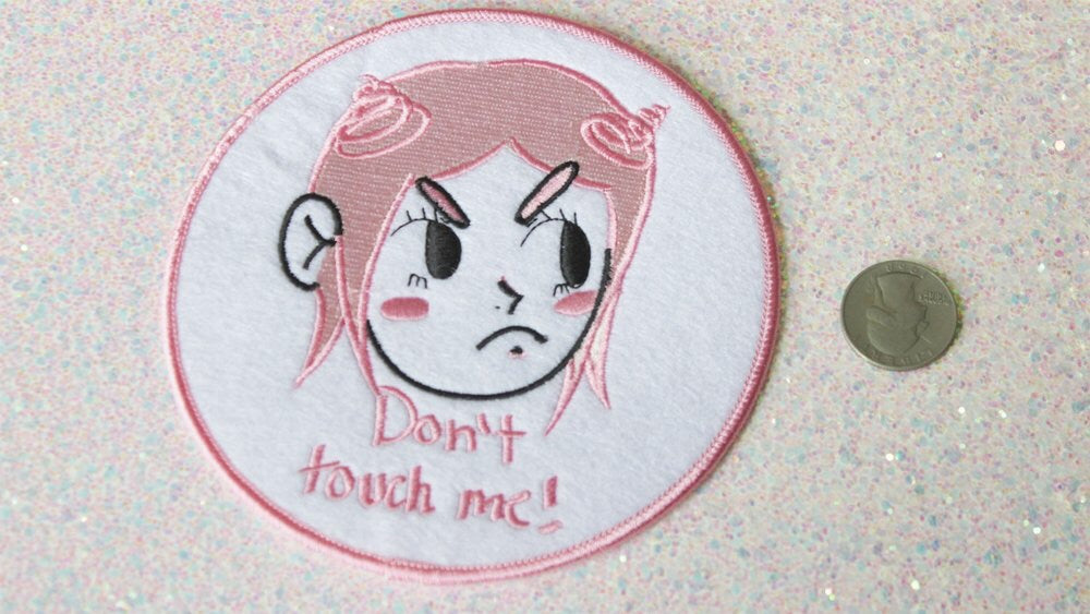 Don't Touch Me Iron on patch