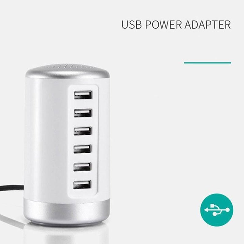 6 Port Multiple USB Travel Wall Charger Power Adapter For iPhone Android Samsung