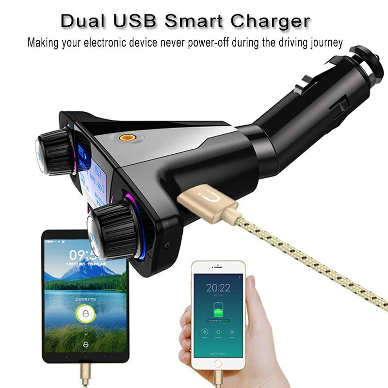 Bluetooth 4.0 FM Transmitter Modulator Handsfree Car Kit Car Charger