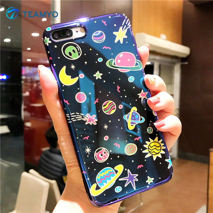 Colorful Cartoon Planet iPhone Case