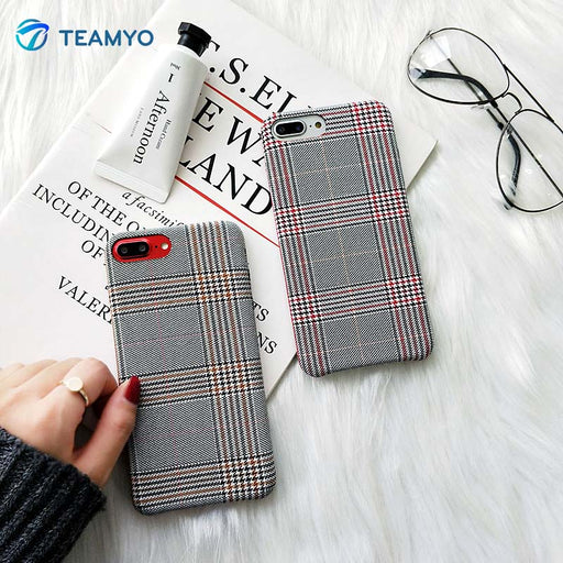 British Checkered Capas iPhone Cases