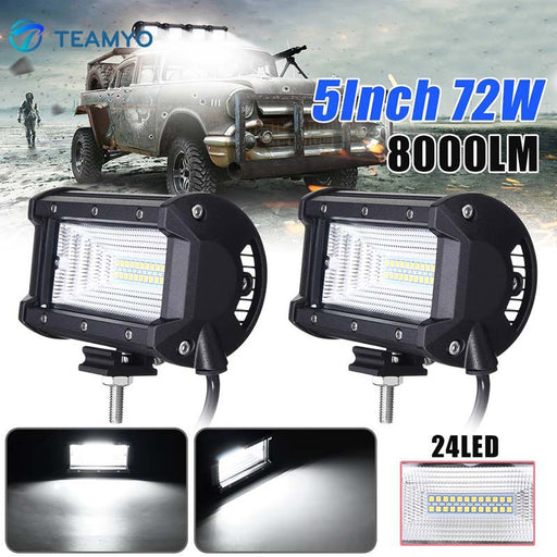 72W 6000K LED Work Light