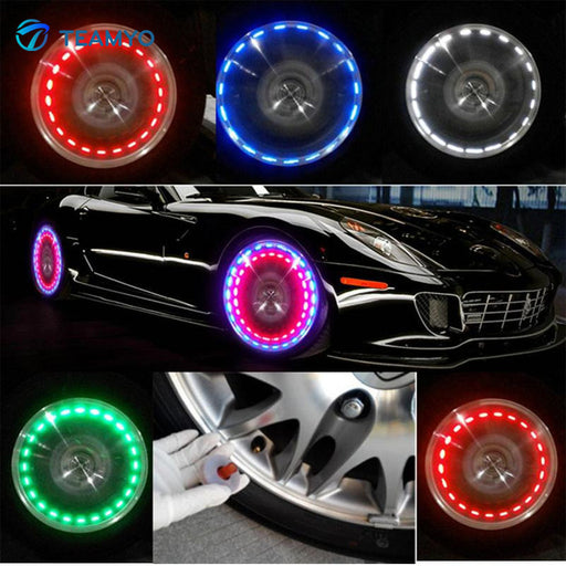 Car Auto Solar Energy Wheel Light 4pcs Pack