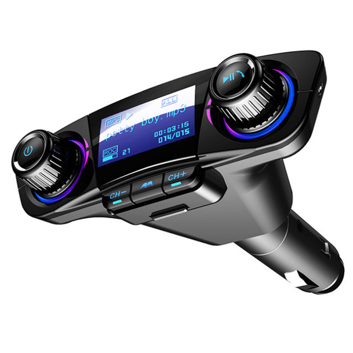 Bluetooth 4.0 FM Transmitter Modulator Handsfree Kit Car Charger