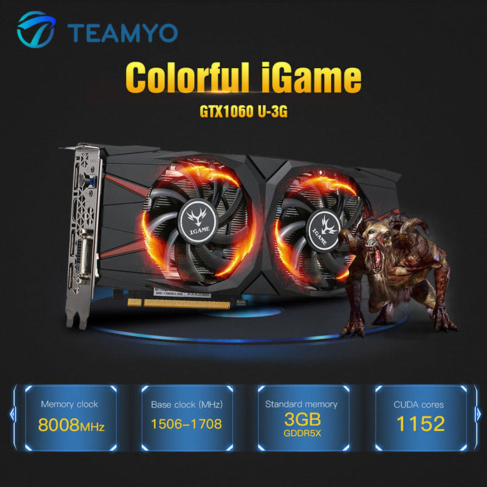 Colorful iGame GeForce GTX1060 Vulcan U 3G