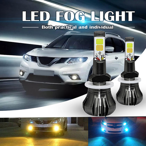 Dual Color 2800LM Car Headlight Fog Lights