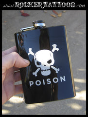 SKULL Metal Flask (black)