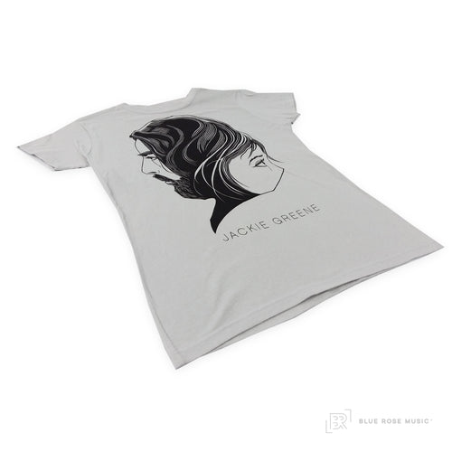 Jackie Greene faces gray t-shirt merch tee men's women's unisex made in america organic USA made
