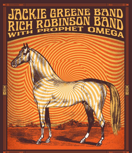 Jackie Greene East Coast Tour Poster merch art rich robinson band prophet omega
