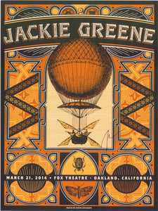 Jackie Greene Fox Theatre 2014 Poster autographed tour merch designed by Justin Helton
