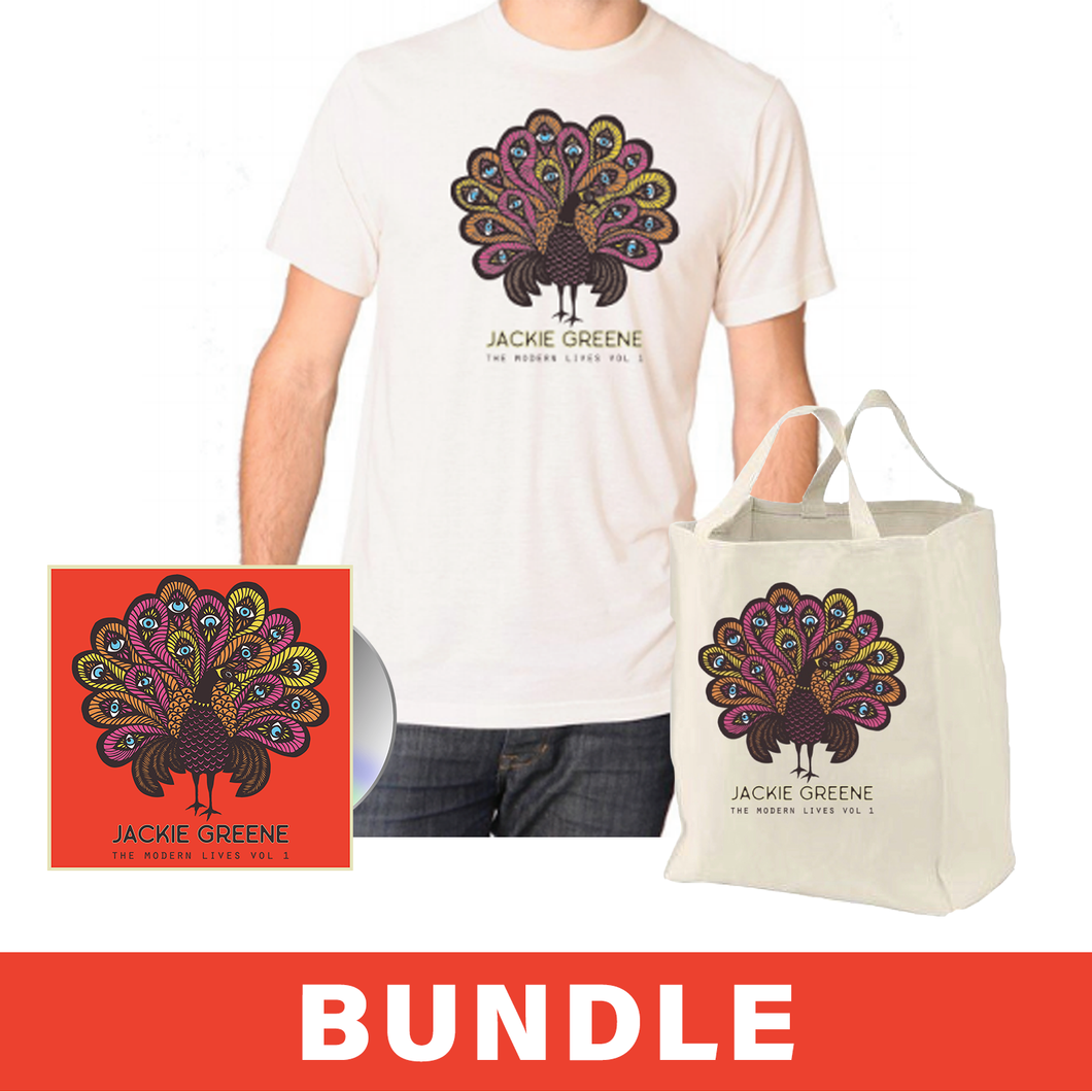 Jackie Greene The Modern Lives Vol. 1 Bundle t-shirt canvas tote bag CD merch organic made in America