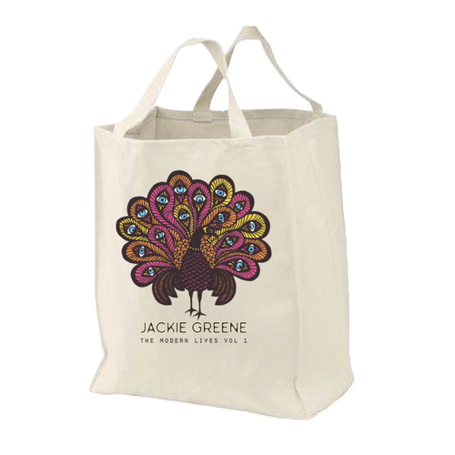 Jackie Greene merch organic canvas tote shopping bag organic made in america