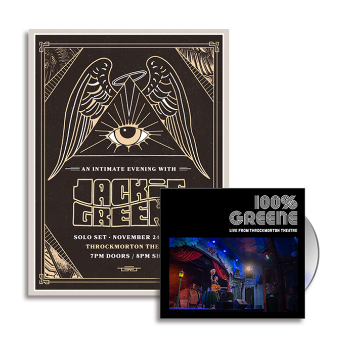 Jackie Greene 100% Greene Live From Throckmorton Theatre CD and Poster Bundle Merch Blue Rose Music
