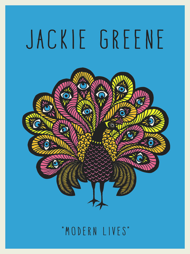 Jackie Greene modern lives peacock poster artist angie pickman blue rose music