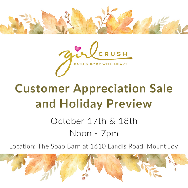 Customer Appreciation Sale & Fall Preview - Oct. 17 & 18, 2019