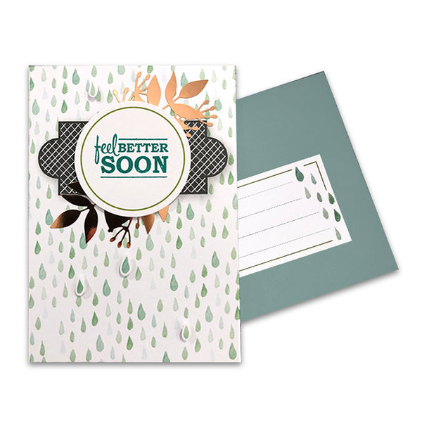 "_""Feel Better Soon"" Blank Card"