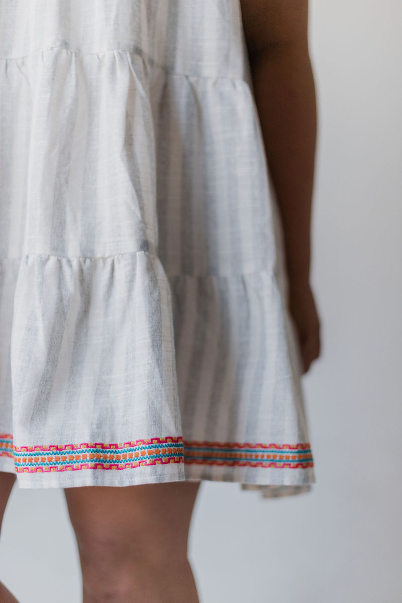 Lauren Embroidered Dress Ivory