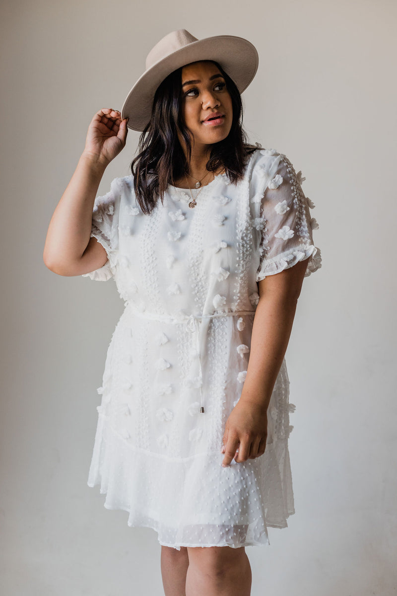 Anna Embroidered Top Ivory