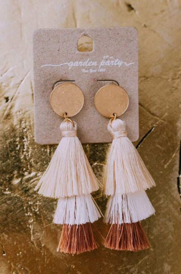 Accessories Amore Tassel Earrings Beige