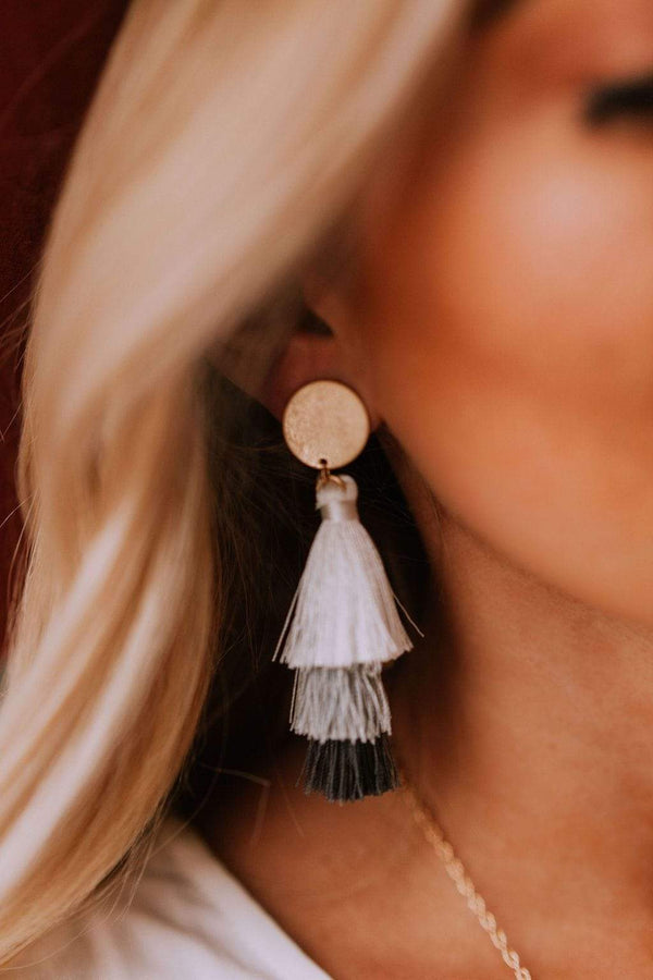 Accessories Amore Tassel Earrings Grey