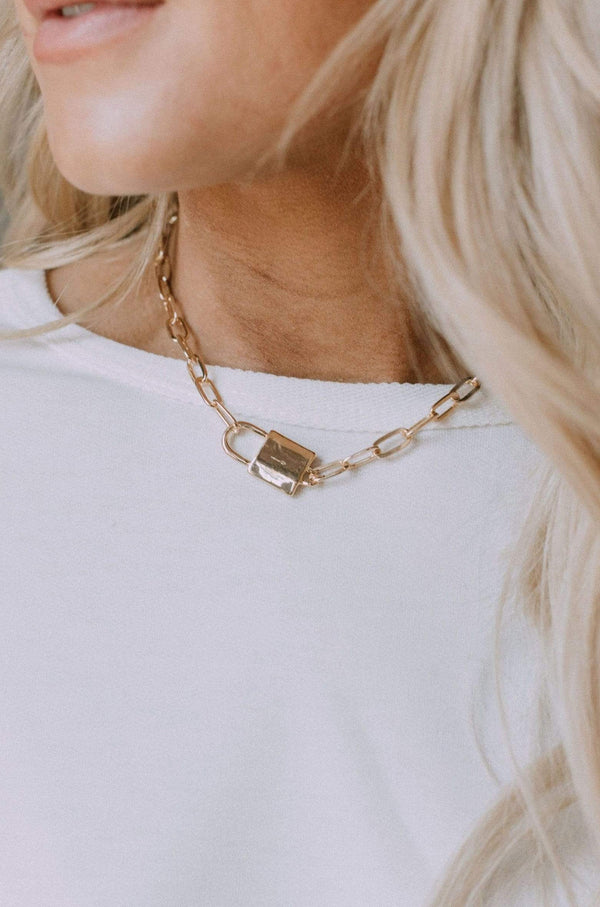Accessories Babe Squad Lock Pendant Necklace