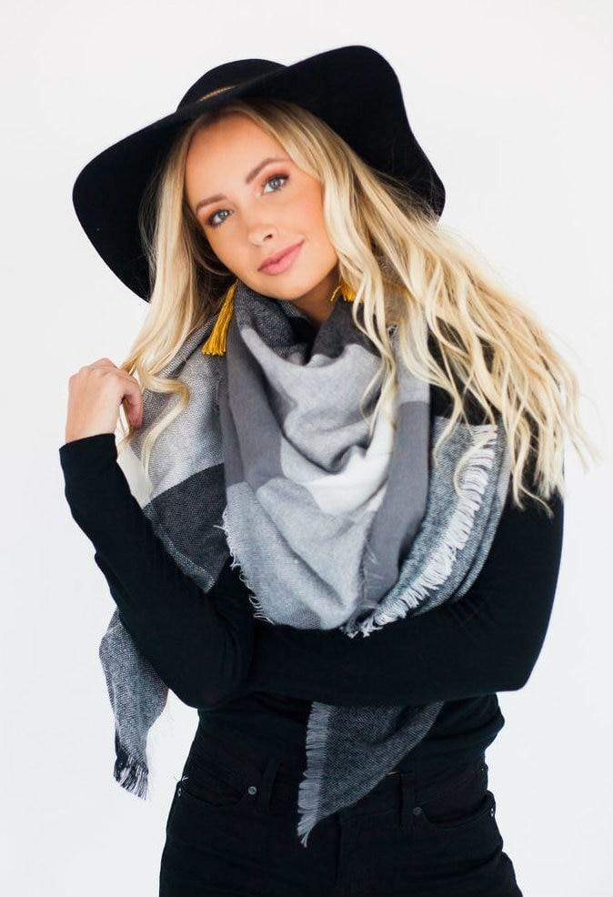 Accessories Blanket Scarf Black