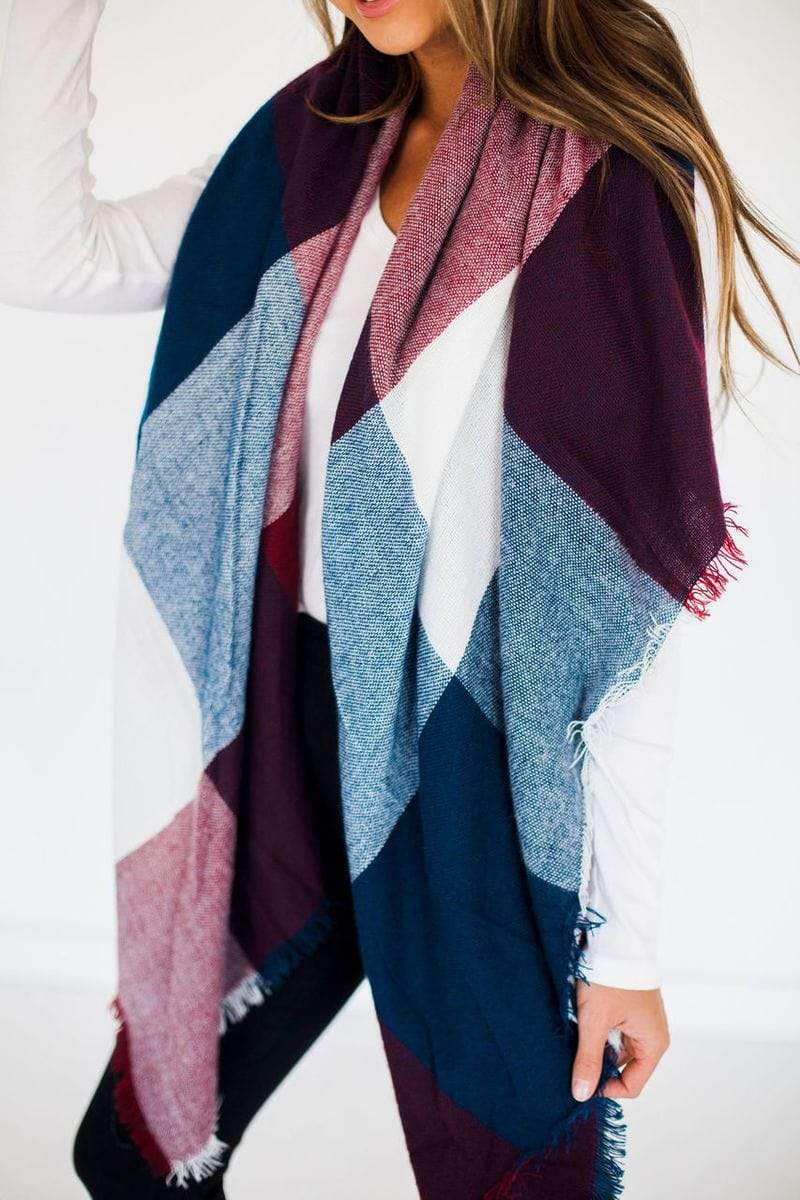 Accessories Blanket Scarf Navy
