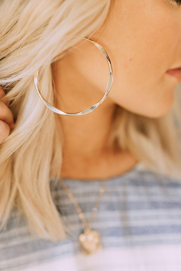 Accessories Breezy Gold Hoop Earrings