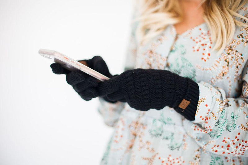 Accessories C.C. Knitted Gloves Black