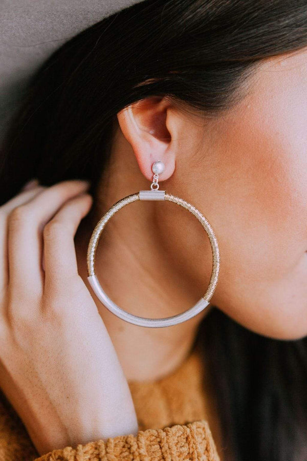 Accessories Empowered Hoop Earrings