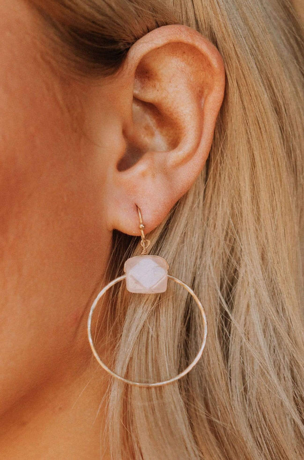 Accessories Eos Earrings Stone Hoops