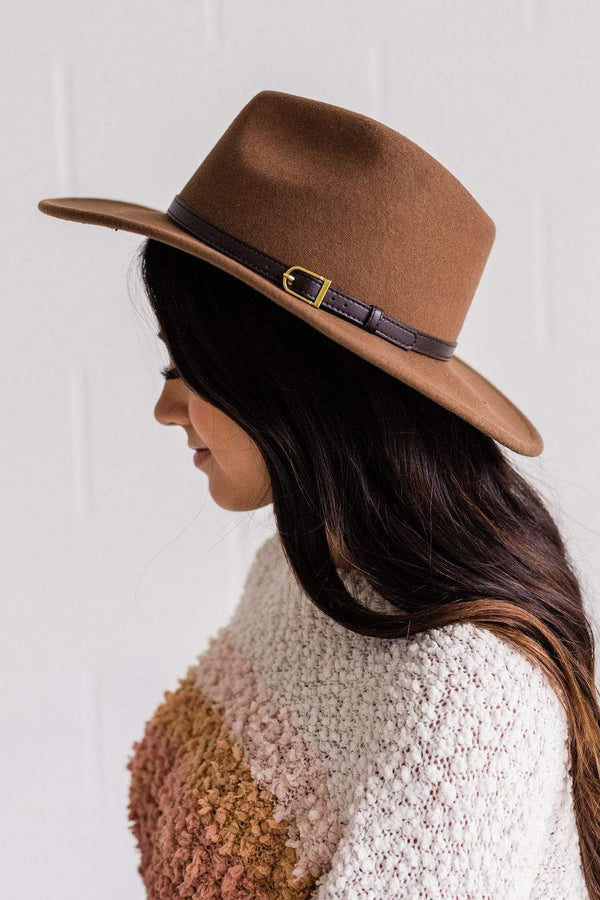 Accessories: Hat City Girl Hat Brown