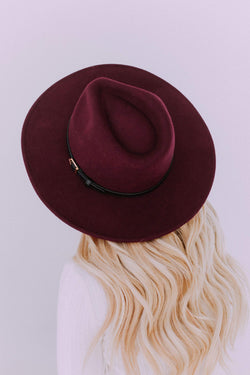 Accessories: Hat City Girl Hat Burgundy