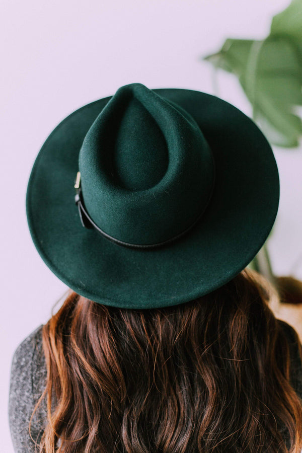 Accessories: Hat City Girl Hat Hunter Green