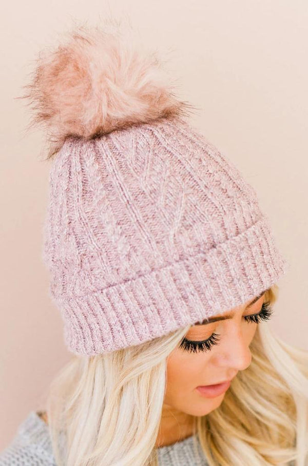 Accessories: Hat Cozy Beanie Mauve